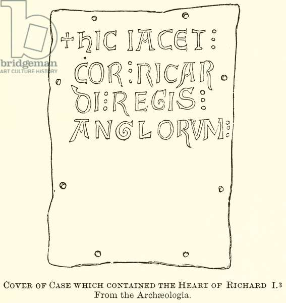 Cover of Case which Contained the Heart of Richard I (engraving)