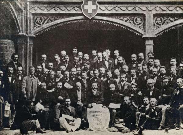 The Geneva Congress Of 1866 (b/w photo)