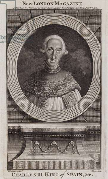 Charles III, King of Spain, 1786 (engraving)