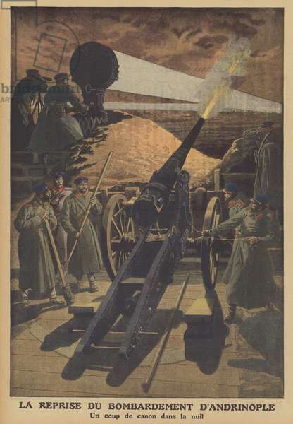 Recommencement of the Siege of Adrianople (colour litho)