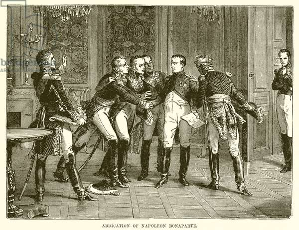 Abdication of Napoleon Bonaparte (engraving)
