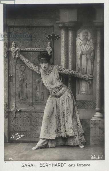 Sarah Bernhardt at Empress Theodora (b/w photo)