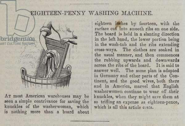 Eighteen-Penny Washing Machine (engraving)