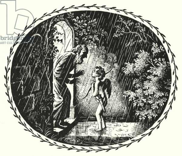 Hans Christian Andersen: The Naughty Boy (litho)