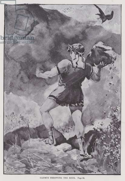 Cadmus throwing the Rock (litho)