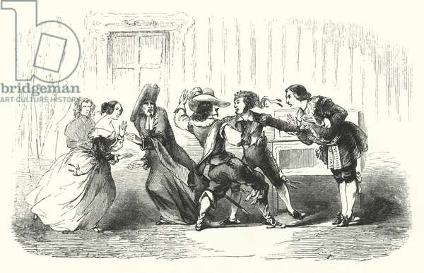 Illustration for The Barber of Seville by Rossini (engraving)