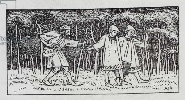 Hans Christian Andersen: The Elfin Hill (litho)