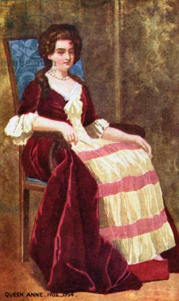 Queen Anne (colour litho)