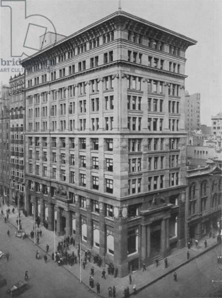 Sydney: Commonwealth Bank, Corner Moore and Pitts Streets (b/w photo)