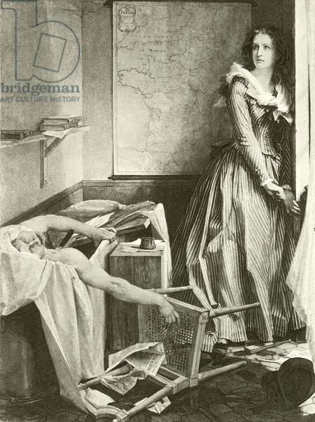 Charlotte Corday and Marat (gravure)