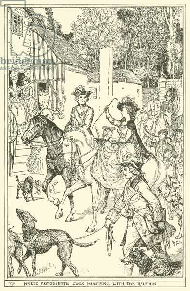 Marie Antoinette goes Hunting with the Dauphin (engraving)