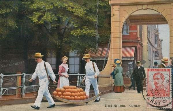 Alkmaar in North Holland. Postcard sent in 1913.
