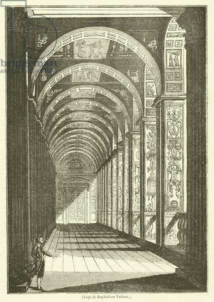 Loge de Raphael au Vatican (engraving)