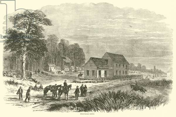 Pocotaligo Depot, January 1865 (engraving)