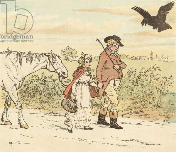 A Farmer Went Trotting upon His Grey Mare (colour litho)