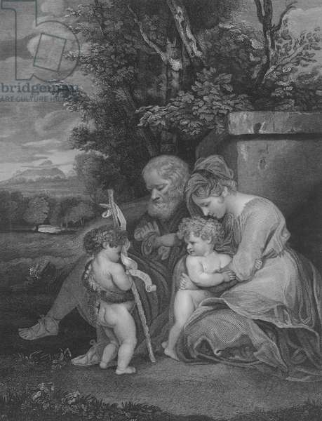 The Holy Family, St Matthew 2, Verse 13-15 (engraving)