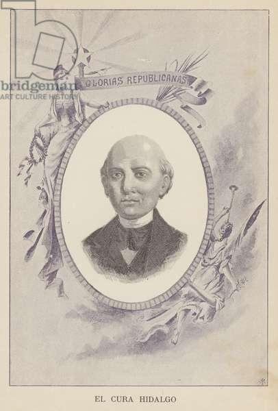 Miguel Hidalgo y Costilla, Mexican Catholic priest and revolutionary (litho)