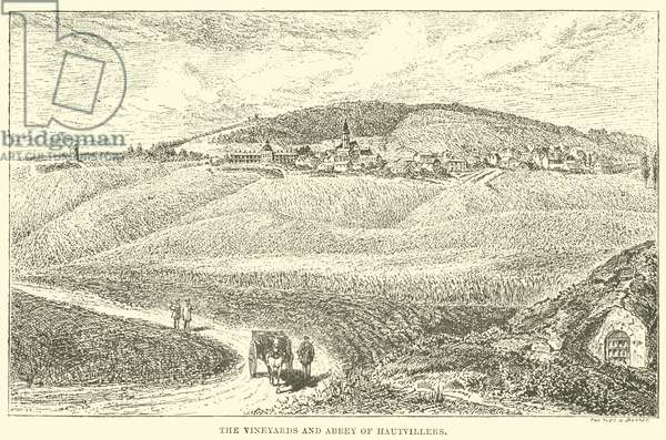 The Vineyards and Abbey of Hautvillers (engraving)