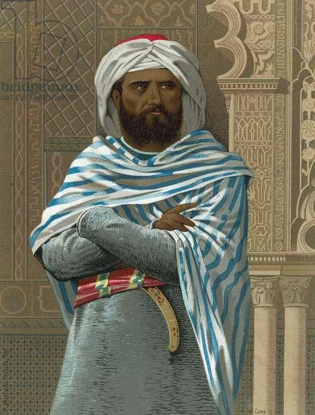 Abd al-Rahman I (chromolitho)