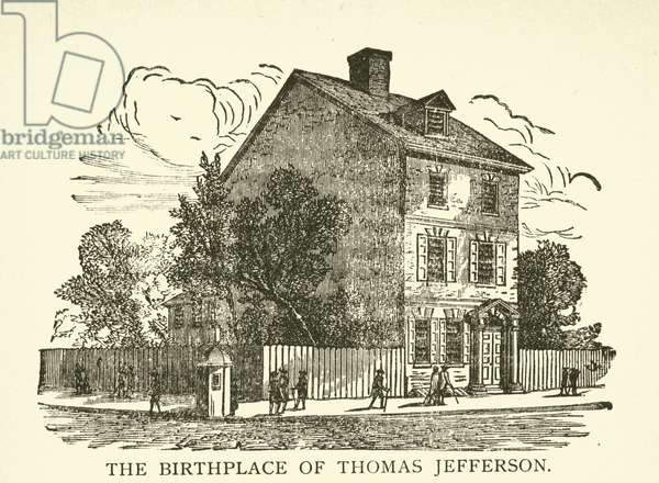 The Birthplace of Thomas Jefferson (engraving)