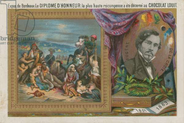 Eugene Delacroix, 19th Century French painter (chromolitho)