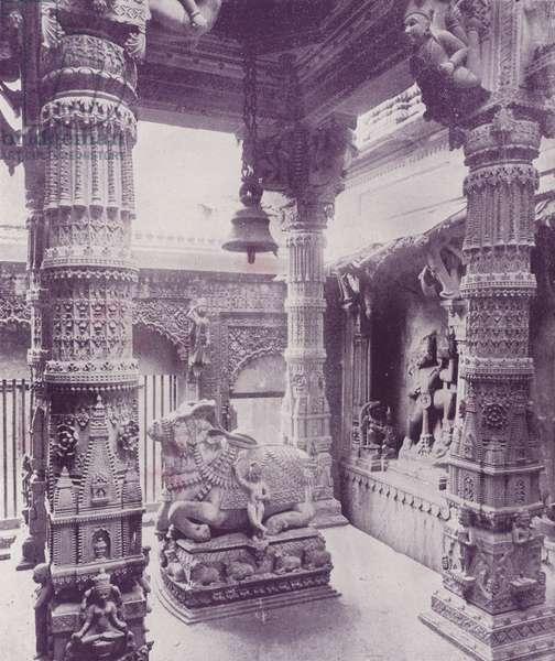 Gosain Temple, Benares (b/w photo)