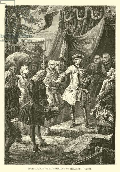 Louis XV and the Ambassador of Holland (engraving)