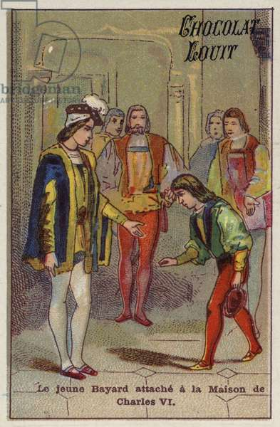 The young Bayard attached to the house of Charles VI (chromolitho)