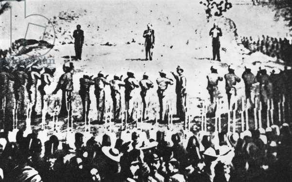 Execution, Emperor Maximilian of Mexico, 19 June 1867 (b/w photo)