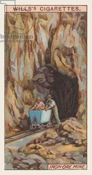 Iron-ore mine (chromolitho)