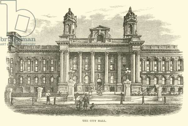 The City Hall (engraving)