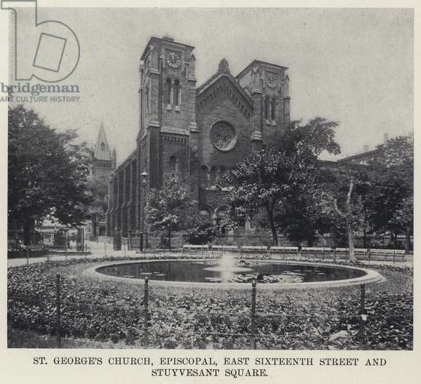 St George's Church, Episcopal, East Sixteenth Street and Stuyvesant Square (b/w photo)