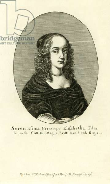 Elizabeth Stuart, second daughter of King Charles I (engraving)