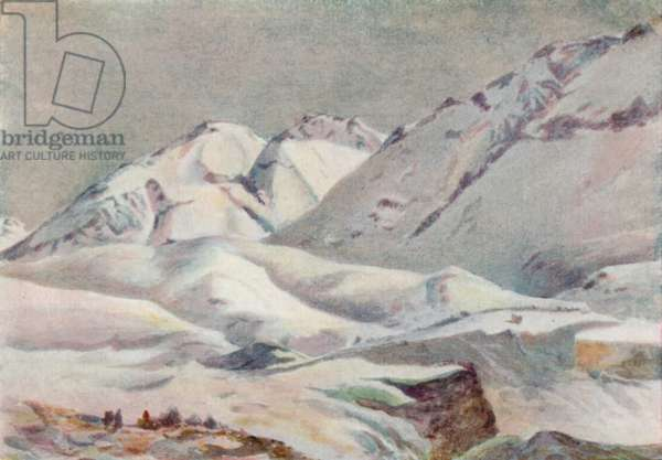 The Andes (colour litho)