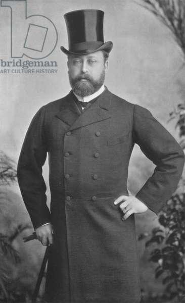 King Edward VII in 1885 (b/w photo)