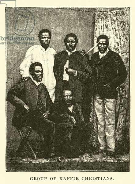 Group of Kaffir Christians (engraving)