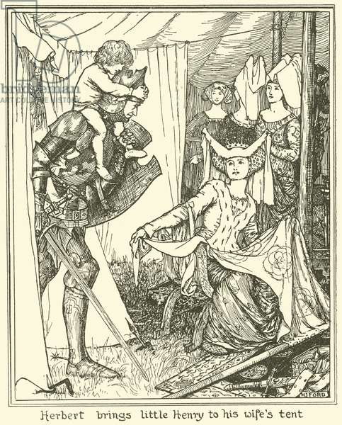 Herbert brings Little Henry to his Wife's Tent (engraving)