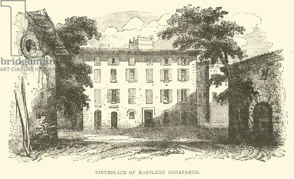 Birthplace of Napoleon Bonaparte (engraving)