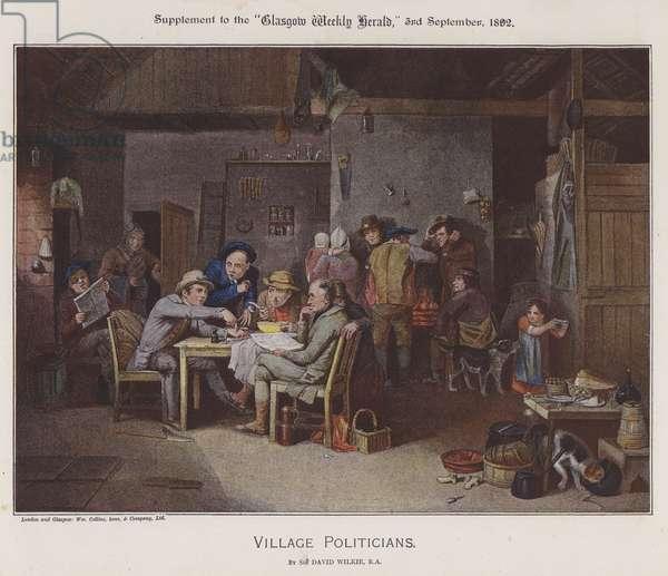 Village Politicians (colour litho)