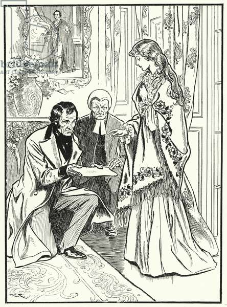 Princess Victoria hears that she is queen (litho)