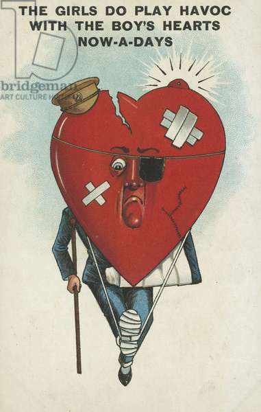 Man with a broken heart (chromolitho)