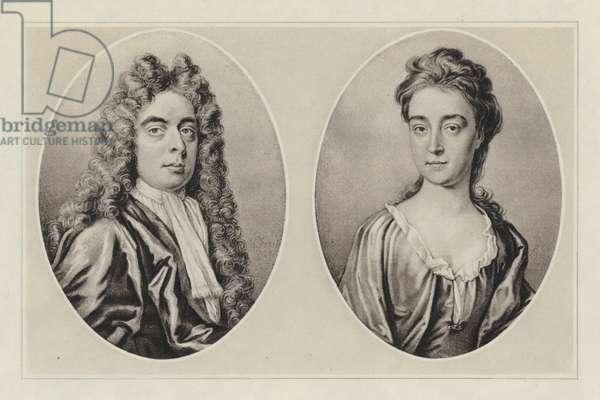 John Churchill, Duke Of Marlborough (1712) and Sarah Jennings, Duchess Of Marlborough (1709) (litho)