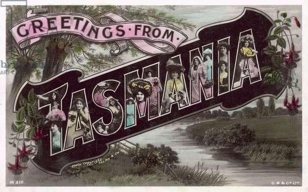 Greetings from Tasmania (colour photo)