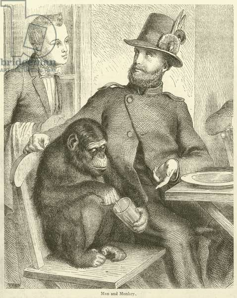 Man and Monkey (engraving)