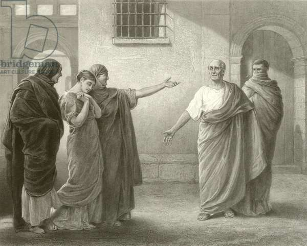 Volumnia reproaching Brutus and Sicinius (engraving)