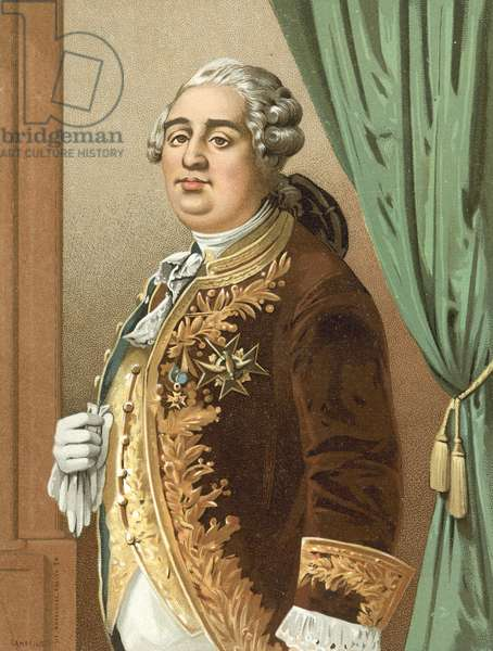 King Louis XVI of France (chromolitho)