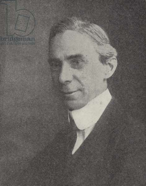 Bertrand Russell, English philosopher (b/w photo)