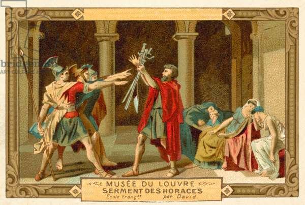 The Oath of the Horatii (chromolitho)