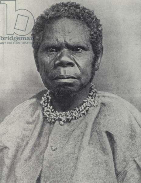 Truganini, last of the Tasmanian aborigines, Australia (b/w photo)