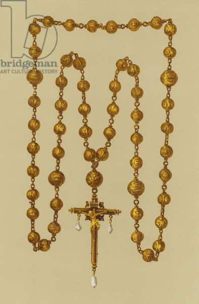 Gold Rosary and Crucifix of Mary Queen of Scots (chromolitho)